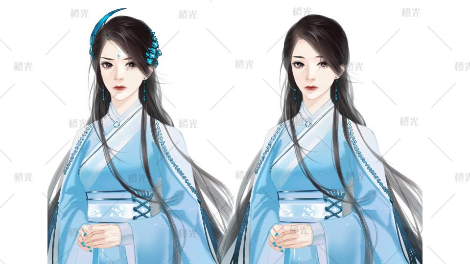 古风少女-蓝详情 - 素材交易平台 - 橙光|66rpg