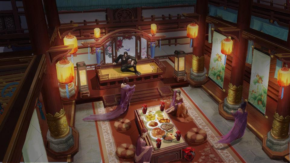 宫廷夜宴图详情 - 素材交易平台 - 橙光|66rpg