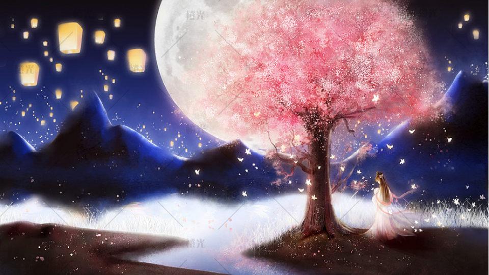 古风月亮2素材背景